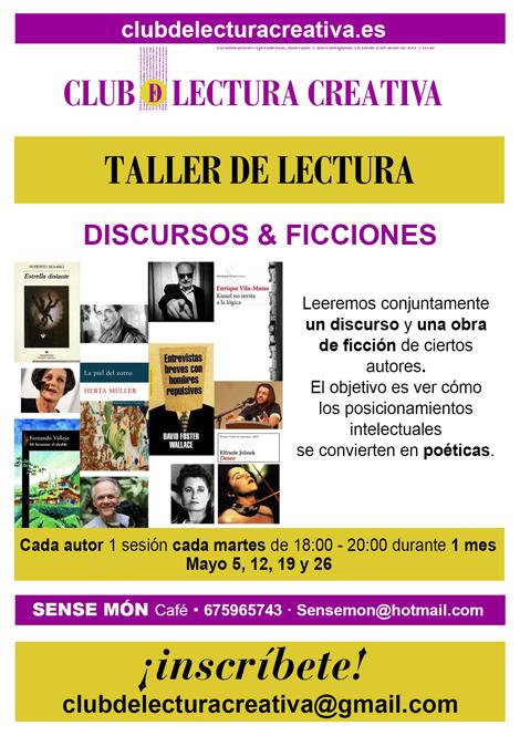 Club De Lectura Creativa Taller Lectura Discurso